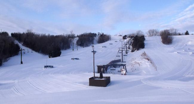 Groomed runs at Mt. Crescent Ski Area